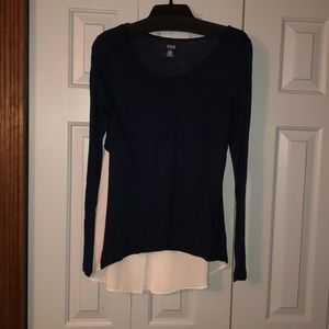 Navy and white top